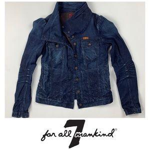7FAM High Collar Denim Jacket 🧥